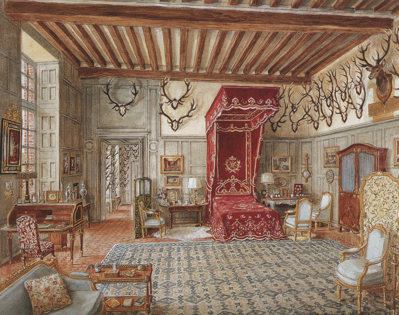 Alexandre serebriakoff la camera da letto della duchessa for Planimetrie della camera a castello