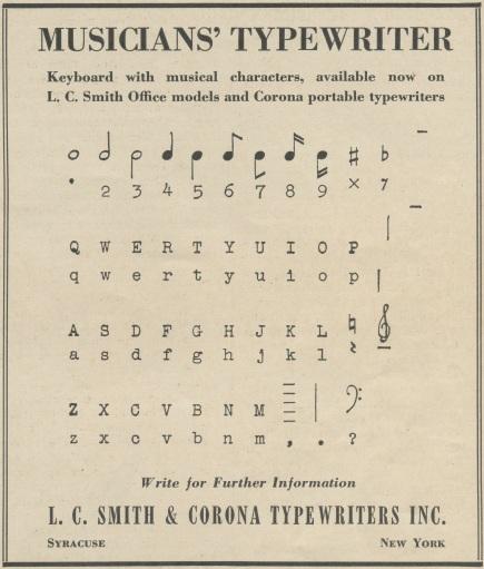 Musicians'Typewriter