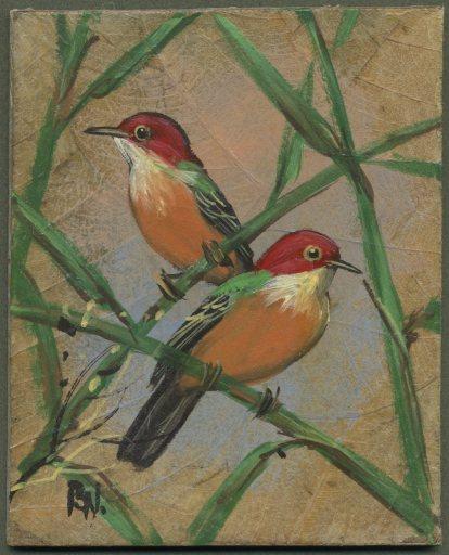 BirdsPaintedonLeaves